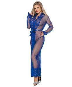 Plus Size Nightgowns Sleeves Long Erotic Night Robe