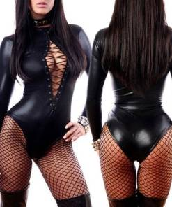 Womens Fishnet Lingerie Black Set