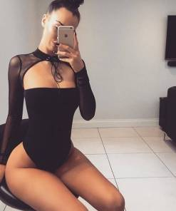 Long Sleeve Lace Teddy Bodysuits Rompers