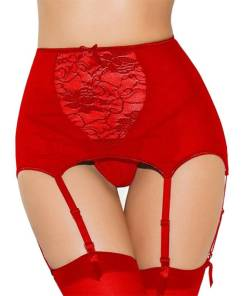 Red Lingerie Garter Set