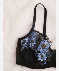 Women's Bra And Panties Set Floral Embroidery