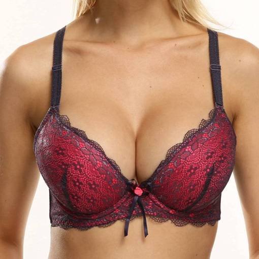 Plus Size Lace Push Up Bra