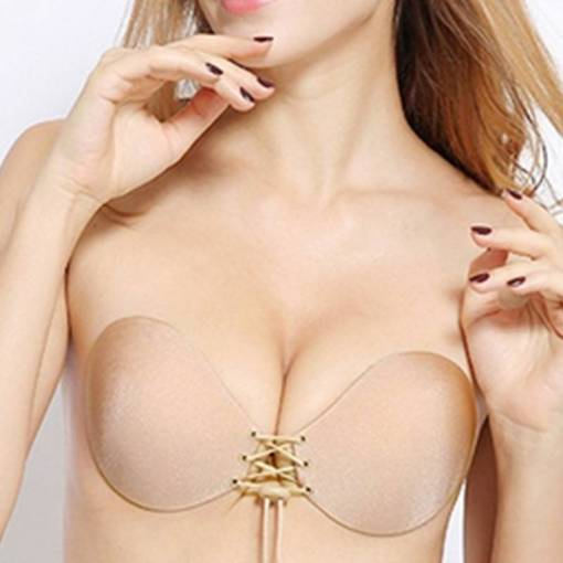 Women Invisible Strapless Bra Push Up