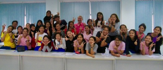 Teach English in Cambodia to these friendly students.