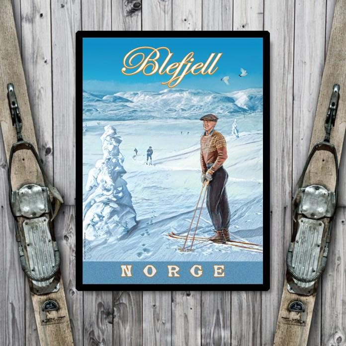 Plakat fra Blefjell