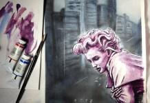 Marilyn Monroe painting