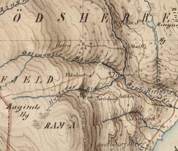 Et lite utsnitt fra kartet. Kilde: Kartverket