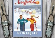 Skiplakat fra Norefjellstua