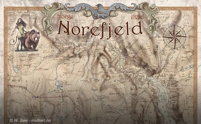 Gammelt kart fra Norefjell