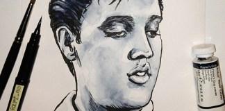 Elvis Presley drawing