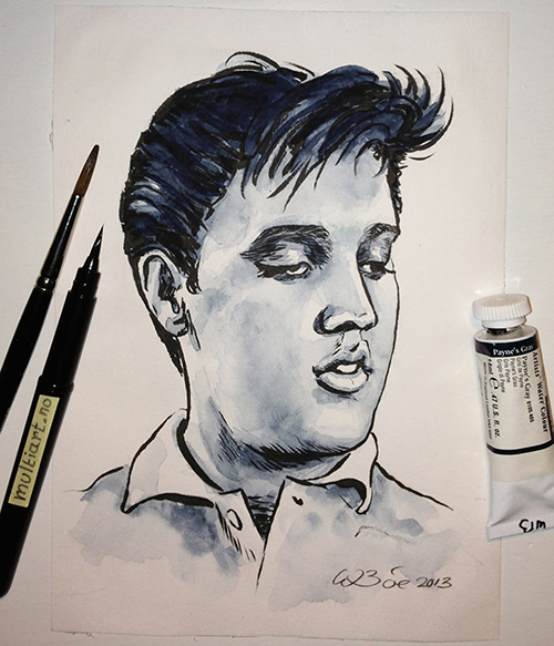 Elvis Presley drawing