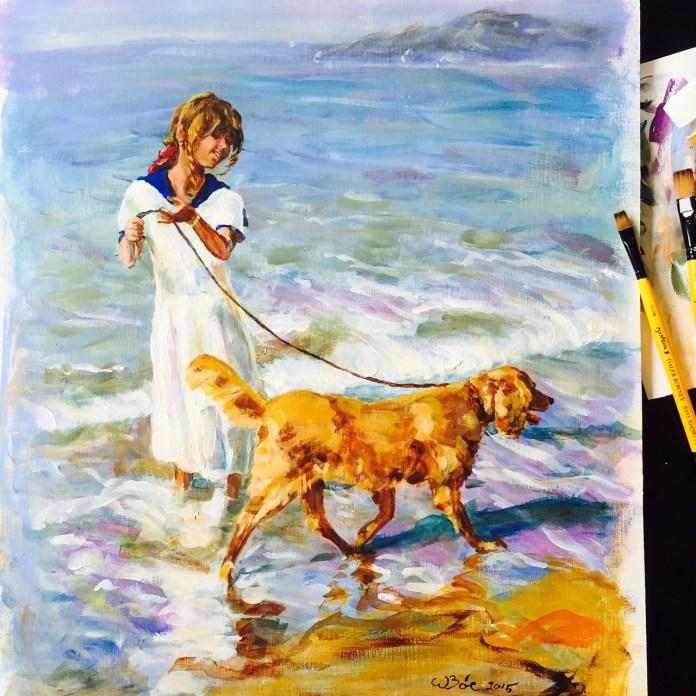 Jenta og hunden