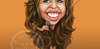Miley Cyrus carikature