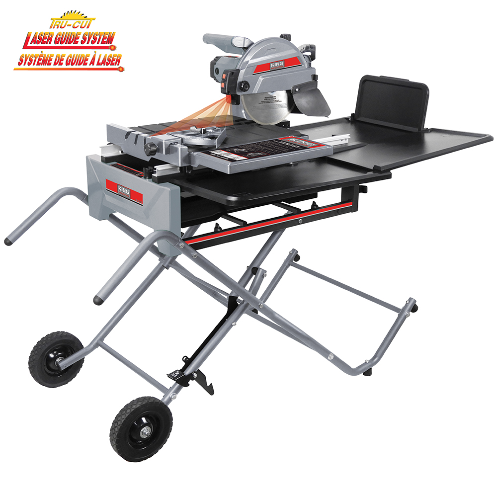 king industrial kc 3310ts 10 in sliding tile saw with stand