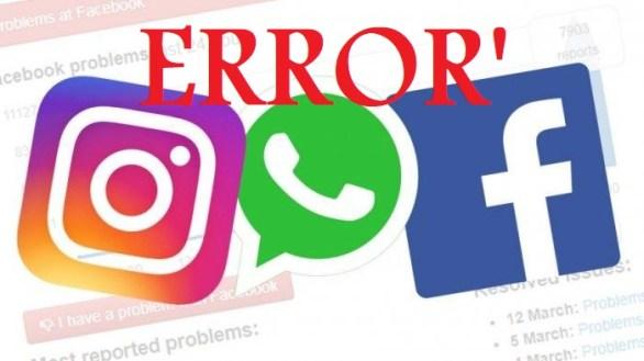 WhatsApp, Facebook dan Instagram Error Inilah Solusinya