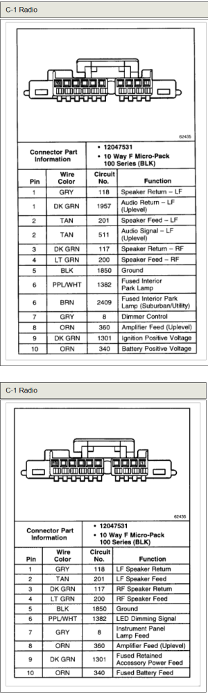 CHEVROLET Car Radio Stereo Audio Wiring Diagram Autoradio