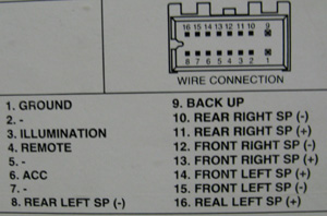 DAEWOO Car Radio Stereo Audio Wiring Diagram Autoradio connector wire installation schematic