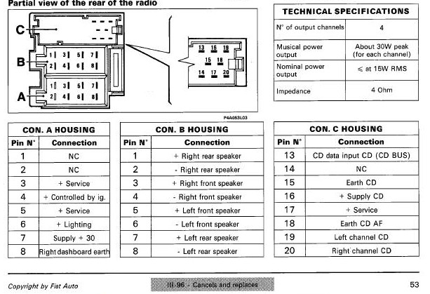 fiat radio wiring diagram schematic diagrams rh ogmconsulting co