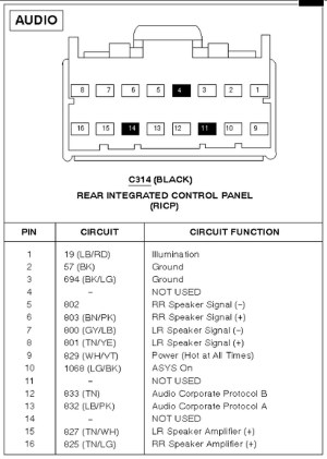 FORD Car Radio Stereo Audio Wiring Diagram Autoradio