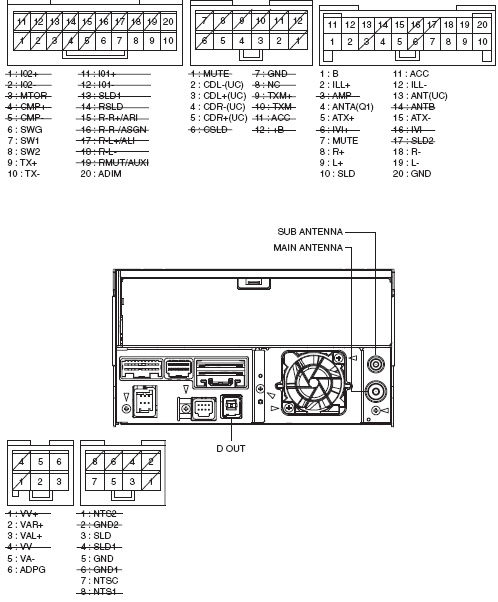Lexus P1505 Pioneer FX MG4807DV car stereo wiring diagram connector pinout wiring diagram for pioneer deh 7300bt yhgfdmuor net pioneer deh-7300bt wiring harness at reclaimingppi.co