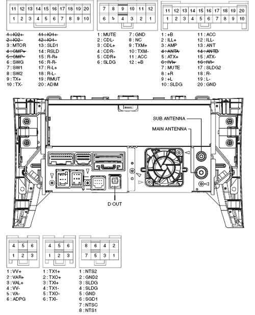 Lexus P6501 PIONEER DEX MG9967ZT car stereo wiring connector pinout wiring diagram for pioneer deh p8400bh the wiring diagram pioneer deh-p7200hd wiring diagram at eliteediting.co
