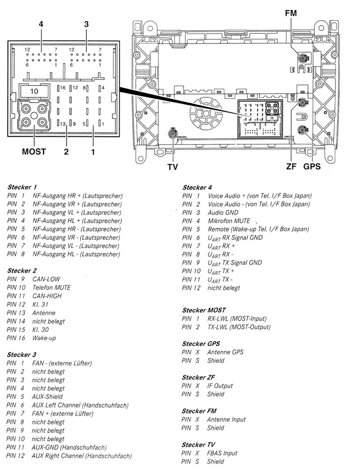 Mercedes Benz W245 Comand car stereo wiring diagram connector pinout harness delphi radio wiring harness delphi wiring diagrams collection  at couponss.co