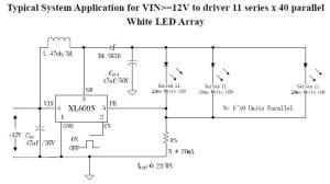 12V LED circuit diagram Switching Constant Current Driver circuit diagram