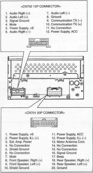 TOYOTA Car Radio Stereo Audio Wiring Diagram Autoradio connector wire installation schematic
