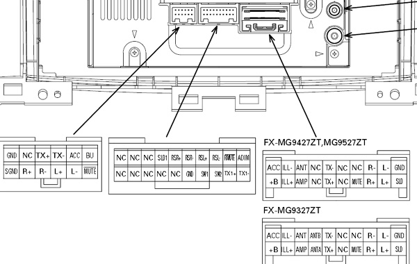 Toyota 1749 Pioneer KEX M9137Zt car stereo wiring diagram harness connector pinout electravan wiring diagram diagram wiring diagrams for diy car Basic Electrical Wiring Diagrams at edmiracle.co