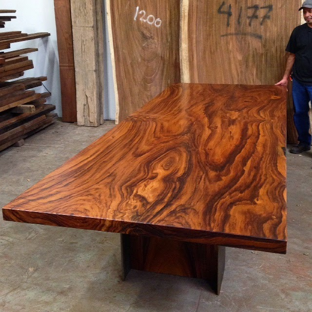 Large Round Wood Coffee Table