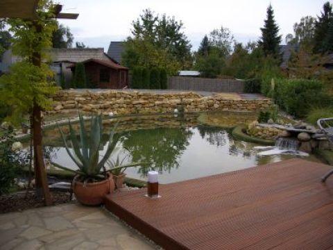 terrasse am teich marco - der fertige teich mit bangkirai- terrasse - foto-galerie