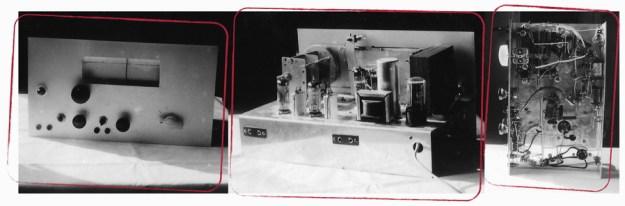 1964 home built radio 5Y3GT ECL82 EBF89 ECH81