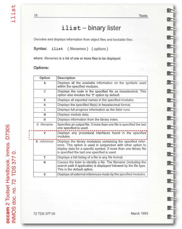 081 fig1 inmos occam 2 toolset ilist binary lister