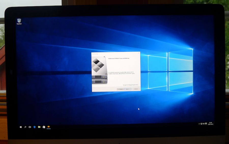 Boot Camp-install in Windows 10
