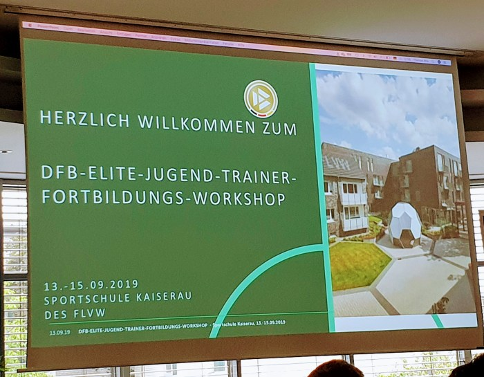 DFB-Elite-Jugend-Trainer-Fortbildungs-Workshop (TEIL 1)