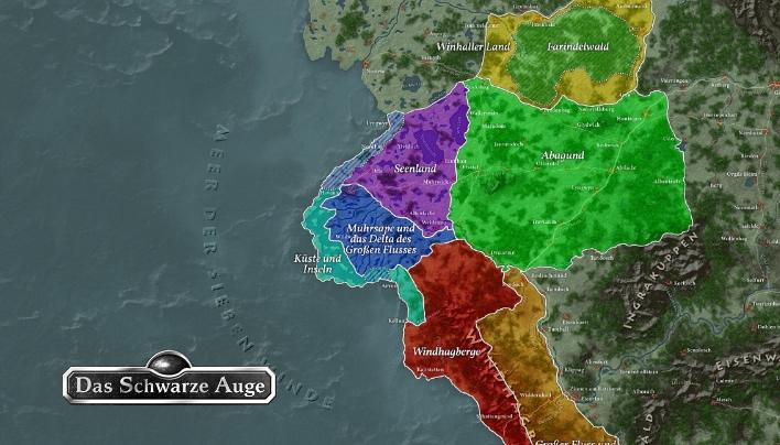 Dsa Karte.Kurzcheck Landkartenset Der Siebenwindkuste Ohne Navi