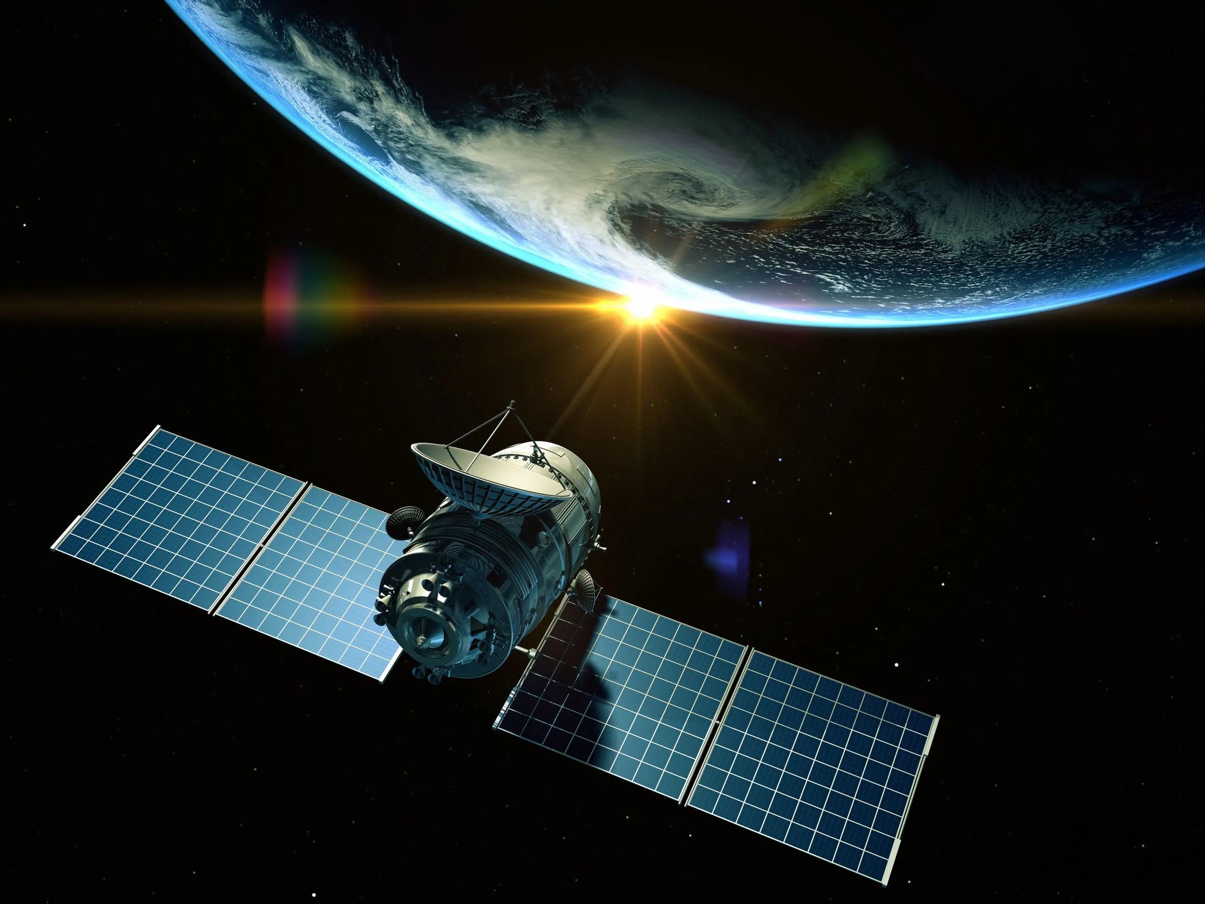 GPS satellite in space