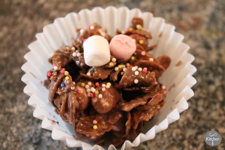 Marshmallow Cornflake Chocolate Crispies
