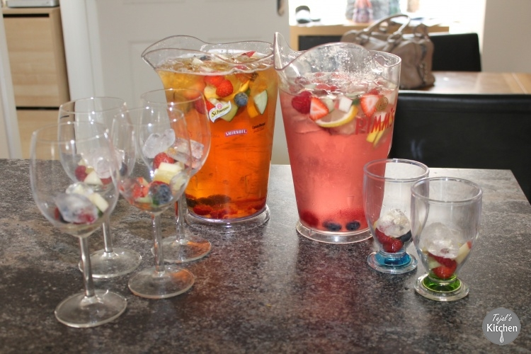 Summer Pimms & Fruity Kiddie Drink