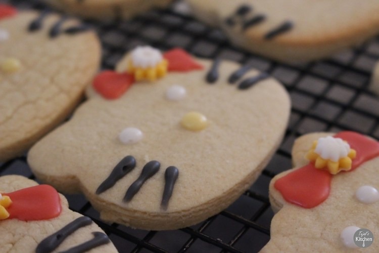 Cut out Sugar Cookie Hello Kitty Recipe