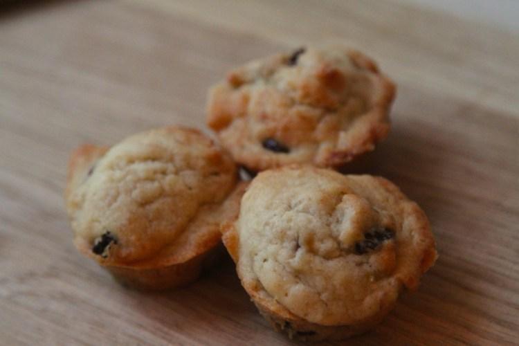Vegan Banana Fruit Mini Muffins