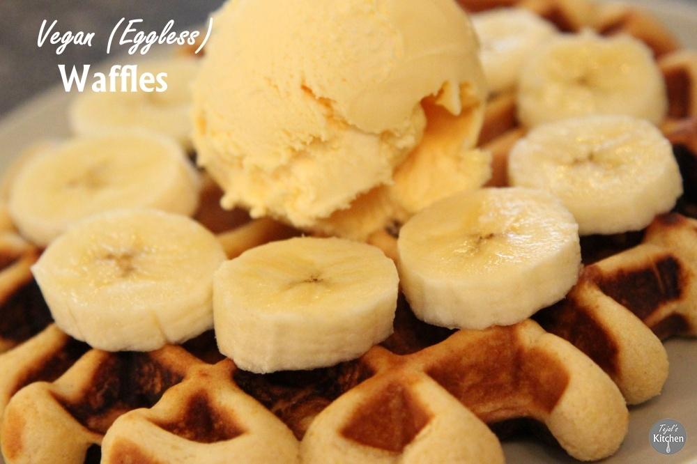 Vegan (Eggless) Waffles