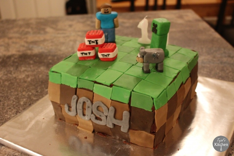 Minecraft Cake Tejal S Kitchen