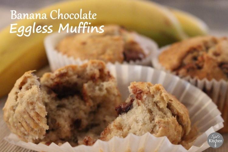 Chunky Monkey Eggless Muffins