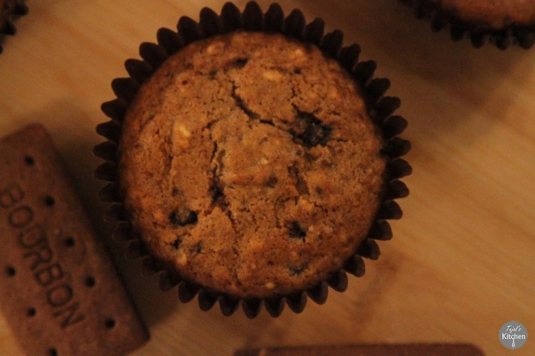 Bourbon Muffins Eggless