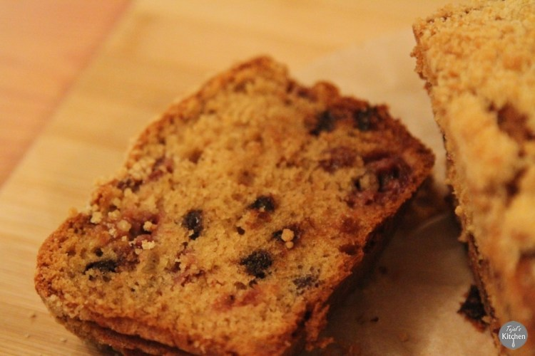 Crumble Top Cherry Chocolate Loaf
