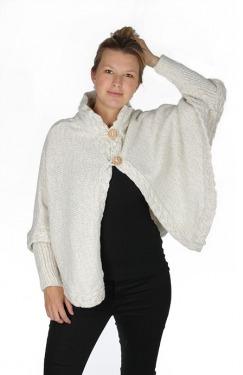 Poncho white model2