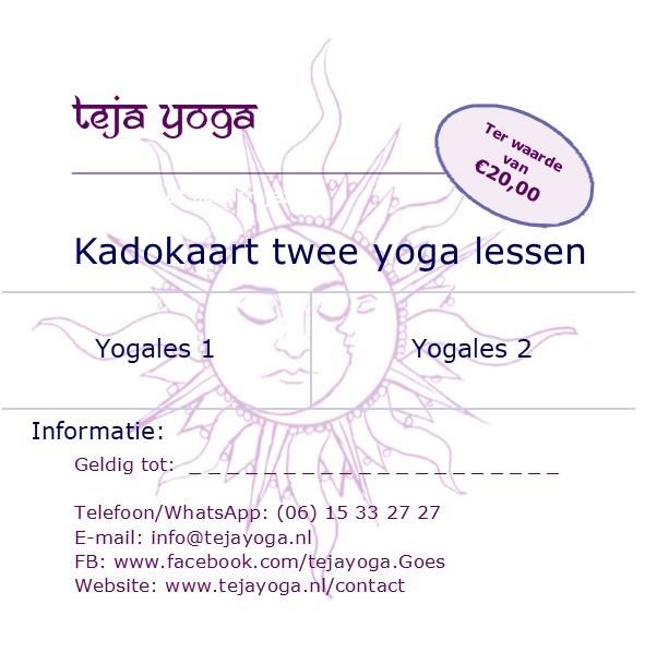Cadeaubon teja yoga 2 lessen