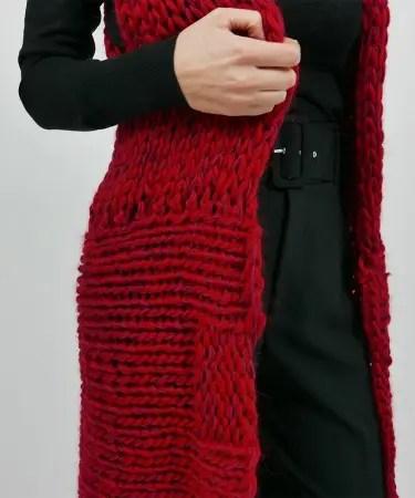 redcardigandetail