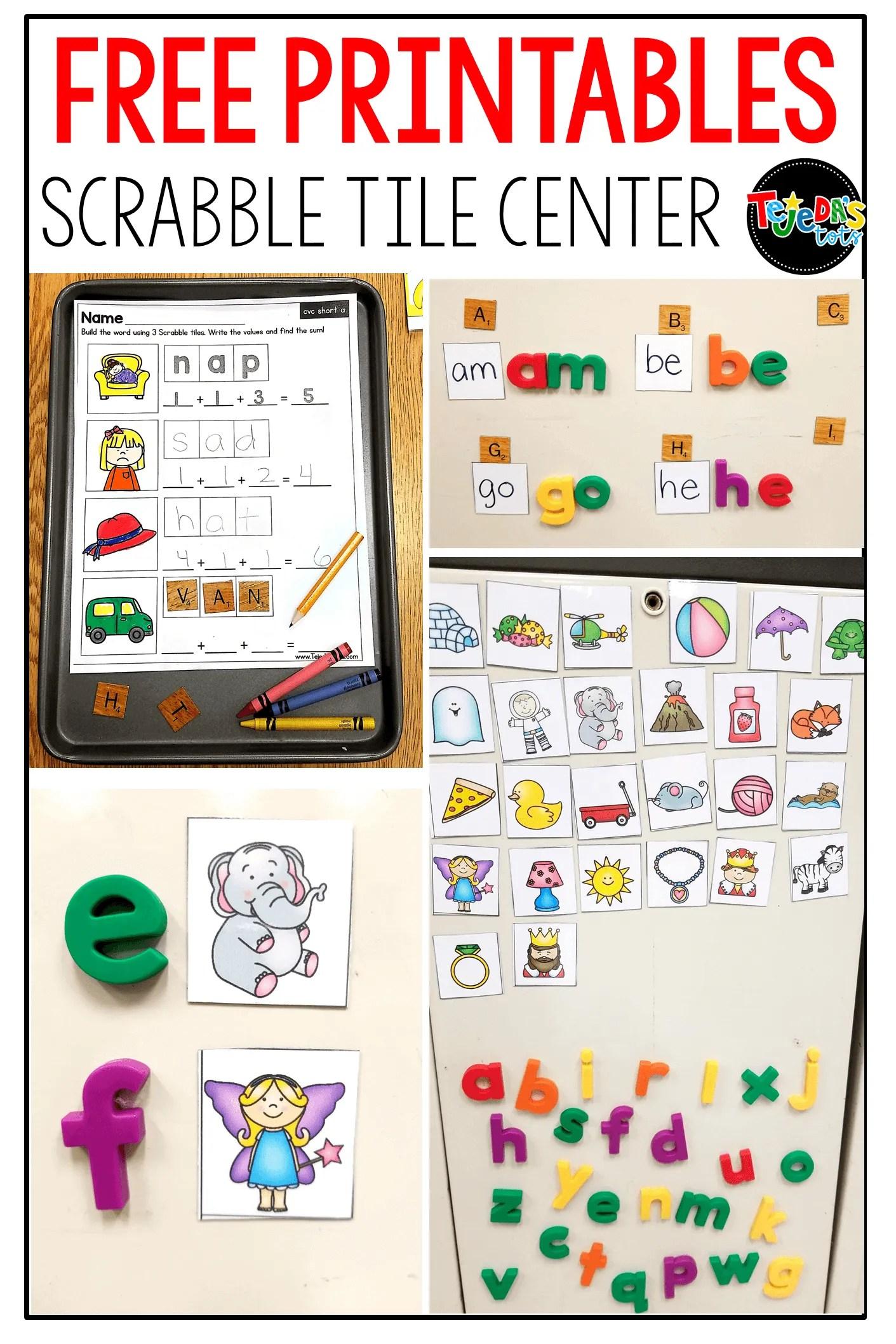 graphic regarding Printable Scrabble Tiles called Scrabble tiles for a phrase do the job middle
